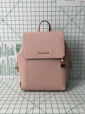 NWT Michael Kors Hayes Medium Leather Backpack Book Bag In Pink Ballet