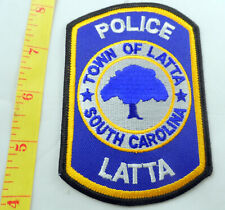 "Police Latta South Carolina 4-1/4"" Cloth Patch, Blue Background"