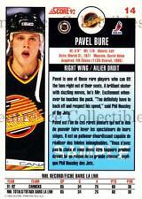 1992-93 Score Promos Samples Canadian #14 Pavel Bure