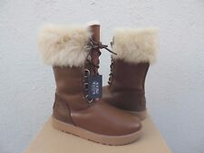 UGG AYA LEATHER/ TOSCANA SHEEPSKIN WATER-PROOF WINTER BOOTS, US 9/ EUR 40 ~NIB