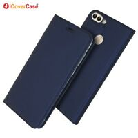 Magnetic PU Leather Flip Case Shockproof Card Cover for Huawei P smart