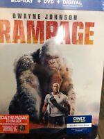 Rampage Blu-ray DVD Digital Copy STEELBOOK Best Buy Exclusive NEW SEALED