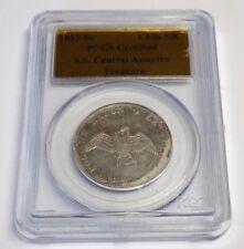S.S. CENTRAL AMERICA TREASURE 1853 SO CHILE 50C PCGS Gold Foil Certified Coin