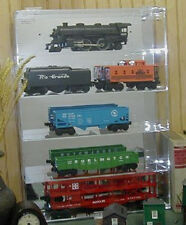 Train Display Case O Model Train Acrylic Holds 5 New in Box Made in the USA