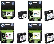 4 GENUINE 2017 DATE CARTRIDGES HP 933XL CYAN MAGENTA YELLOW 932XL BLACK FASTPOST