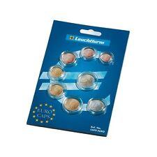 Un paquete de 8 Faro Euro mixto moneda cápsulas para una completa euro moneda fijada