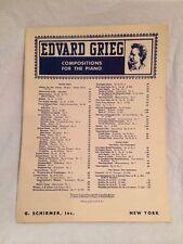 Hochzeitstag Auf Troldhaugen Jour De Noces Wedding Day 1932 Edvard Grieg Sheet