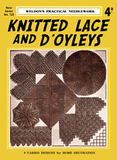 Weldon's 4D #125 c.1937 Vintge Patterns to Make Doiles & Lace in Knitting