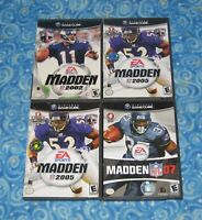 4 Madden NFL Nintendo GameCube Video Games with Cases 02 05 07 Excellent Tested