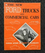 1932-1933 Ford Trucks & Commercial Cars Sales Brochure Model T V-8 Pick-Up Rare