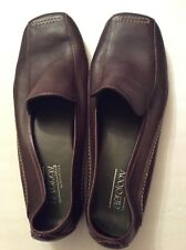 Aerology by Aerosoles Ladies Size 9M Chocolate Brown Flat Shoes Leather Upper