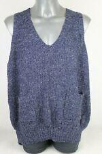 Matchlife Blue One Size Oversized Sleeveless Tanktop Soft Loose Knit XXL