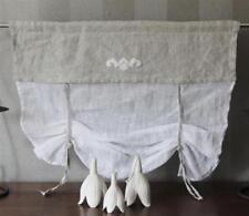 Rideaux et cantonnières blancs pour la chambre à coucher, 100 cm - 150 cm