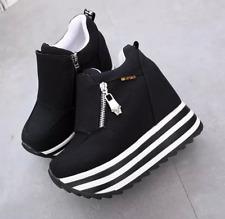 Womens ladies   Platform High Wedge Heel Sneakers Trainers Ahtletic sport  Shoes