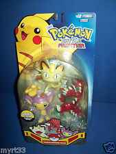 POKEMON Battle Frontier 3 Figure Pack - Series 2 AIPOM- MEOWTH - GROUDON
