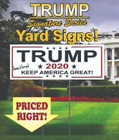5 Trump 2020 Campaign Political Yard Signs / MAGA / Make America Great Again!