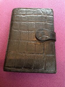 Mulberry Pocketbook Filofax In Black Nile Leather