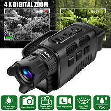 HD Digital Night Vision Monocular 4X Zoom 850nm Infrared Scope IR Camera Video