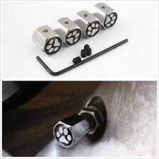 Bear Dog Footprints Luxury Car Wheel Tyre Anti-Theft Tire Valve Stems Cap Cover