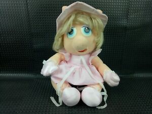 Muppets Baby MISS PIGGY BABIES Vintage 1980s Croner Plush Toy Collectible Pig