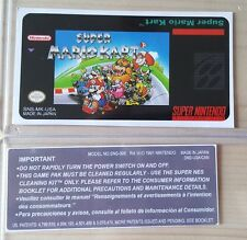 REPLACEMENT SNES CARTRIDGE STICKER LABELS FOR: SUPER MARIO KART