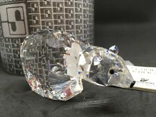 Retired Swarovski Silver Crystal Large Polar Bear Figurine Art. 7649 NR 85