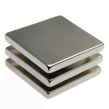 """Very Strong Magnets  1"""" x 1"""" x 1/8"""" Powerful * 6.25Kg Pull * Block Magnet 25mm"""