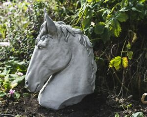 Small Horse Head Garden Ornament - Perfect For Gate Posts or Pillar Tops by DGS