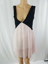 Nude/Pink And Black Shirt Top Dress Party,V-Neck Front And Back Worn Once size S