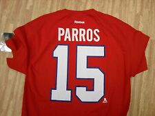 Montreal Canadiens #16 George Parros Reebok Shirt ~ Men's Large L ~ NHL Hockey