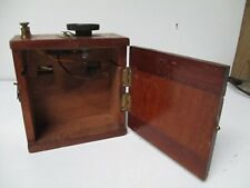 Very Old 1910 England Wood Battery Box with Rheostat
