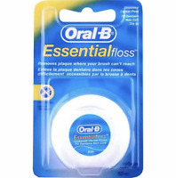 ORAL B ESSENTIAL 50M FLOSS REGULAR UNWAXED - PACK OF 1