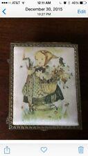 Vintage Schmid Brothers Gold Tone Jewlery Box Berta Hummel1973 W/ Bonus Box