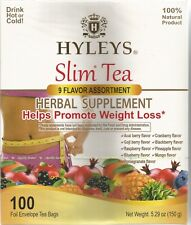 Hyleys  9 Flavor Assorted Slim Tea Collection - 100 Tea Bags EXP 11/23