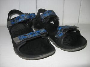 MERRELL Kid's ML-B Hydro Drift Black/Navy Sport Sandal Shoe Sz 7 Excellent