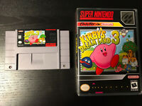 Kirby's Dream Land 3 SNES With Custom Game Case