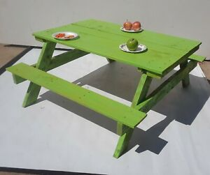 4 Seat Kids Picnic Table Garden Yard Children Bench Outdoor
