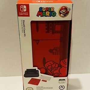 NEW PowerA Stealth Case Kit for Nintendo Switch Lite Super Mario Red Gaming