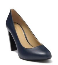 Women MK Michael Kors Susan Flex Pump Leather Navy