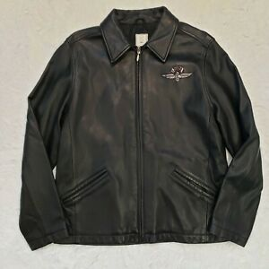Indianapolis Motor Speedway Lady's Med Leather Motorcycle Cafe Racing jacket