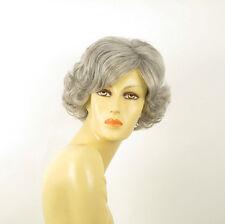 Parrucca donna ricci corta grigio : valentia 51
