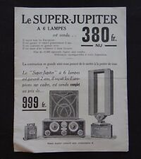 Ancien catalogue SUPER-JUPITER à 6 lampes poste Radio TSF Paris MACRON ;-)