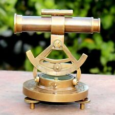 Vintage Antique Brass Alidate Compass With Telescope Nautical Instrument Decor
