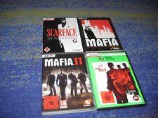 das Mafia Paket Mafia 1 und 2  und Der Pate und Scarface PC  in DVD Hüllen