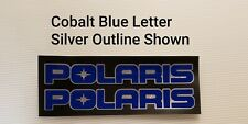 POLARIS PAIR TWO COLOR Decal Letters with Outline Layered Vinyl Pick you Colors!