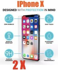 2x iPhone X 10 9H Genuine Tempered Glass Screen Protectors Film Guard Protection