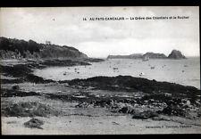 8741641e80eff2 CANCALE (35) VILLAS   BARQUES à la GREVE DES CHANTIERS   ROCHER début 1900
