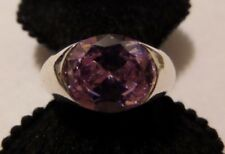 VINTAGE STERLING SILVER AMETHYST RING SIZE ABOUT 7 1/4 SIGNED FAS 925 TESTED