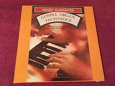 Henry Slaughter Gospel Orgain Technique Demo Record for Book I & II (NO BOOK) LP