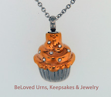 Cupcake Cremation Jewelry Pendant Keepsake Urn Memorial Necklace With Funnel Kit